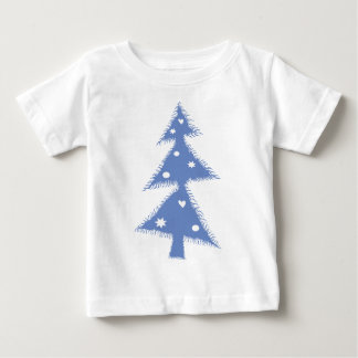 blue Xmas tree Baby T-Shirt