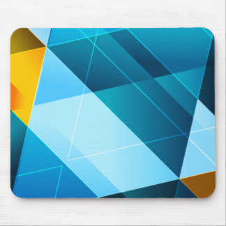 Blue/Yellow Abstract Mousepad