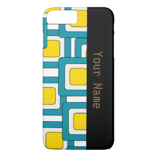 Blue yellow abstract pattern iPhone 7 plus case