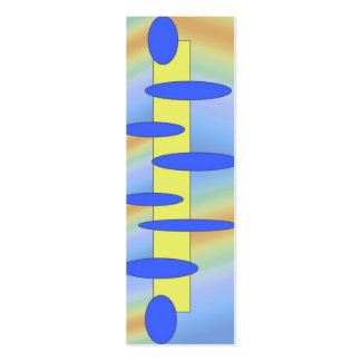 blue yellow abstract skinny business card