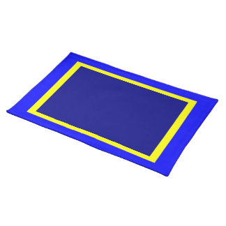 Blue Yellow and Navy Placemat