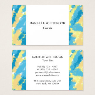 Blue, Yellow and Orange Sky Pattern Business Card