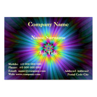 Blue Yellow and Pink Star Burst Card Pack Of Chubby Business Cards