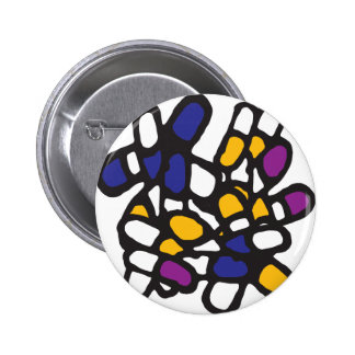 Blue Yellow and Purple Pills Pins
