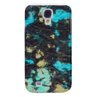 blue yellow black 2 wrinkled paper towel galaxy s4 cases