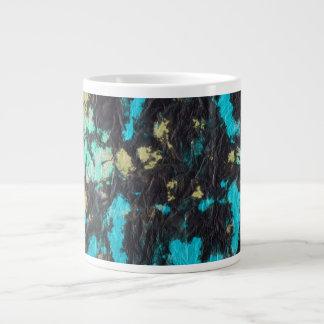 blue yellow black 2 wrinkled paper towel jumbo mug