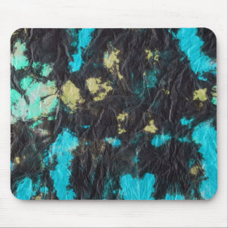 blue yellow black 2 wrinkled paper towel mousepads