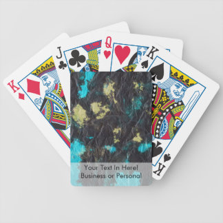 blue yellow black 2 wrinkled paper towel card decks