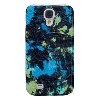 blue yellow black wrinkled paper towel galaxy s4 case