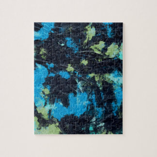 blue yellow black wrinkled paper towel jigsaw puzzle