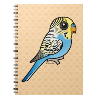 Blue & Yellow Budgie Spiral Notebook