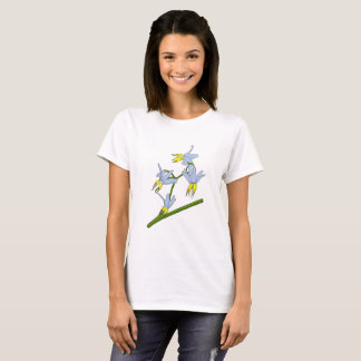 Blue Yellow Bush Flowers T-Shirt
