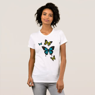 Blue/yellow Butterflies,  Swallow tail Butterfly T-Shirt
