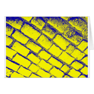 Blue Yellow Cobbles Card