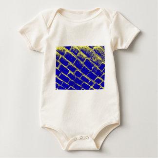 Blue Yellow Cobbles Reversed Baby Bodysuit