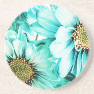 Blue & Yellow Daisies Beverage Coasters
