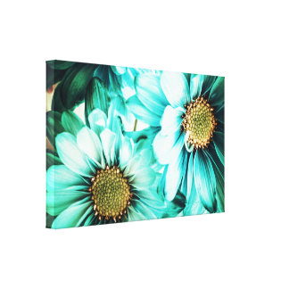 Blue & Yellow Daisies Canvas Canvas Print