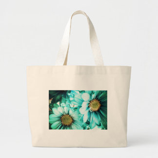 Blue & Yellow Daisies Large Tote Bag