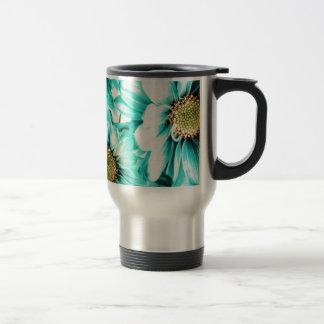 Blue & Yellow Daisies Travel Mug