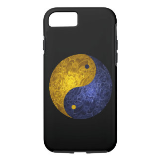 Blue Yellow Demon Yin Yang iPhone 7 Case
