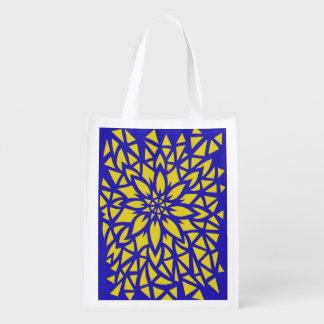 Blue & Yellow Flower Bag