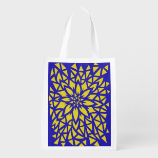 Blue Yellow Flower Bag