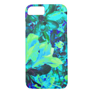 Blue Yellow Flower Bush Digital Photo Art iPhone 8/7 Case
