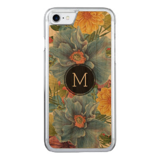 Blue & Yellow Flowers Watercolors Illustration Carved iPhone 7 Case