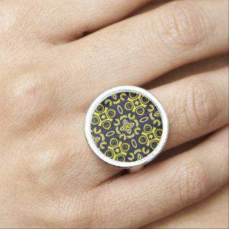 Blue/Yellow- Geometric  Design
