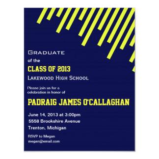 Blue & Yellow Graduation Invitation