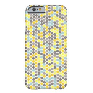 Blue, Yellow, Gray Hexagon Mosaic Phone Case