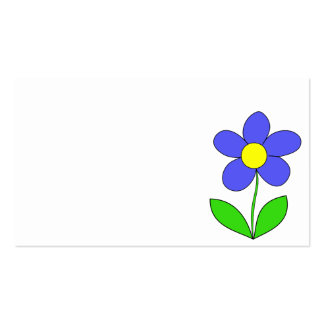 BLUE YELLOW GREEN CARTOON LOGO ICON SPRING FLOWER BUSINESS CARD TEMPLATES