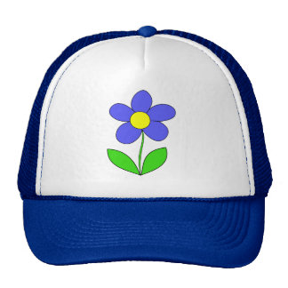 BLUE YELLOW GREEN CARTOON LOGO ICON SPRING FLOWER HAT