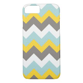 Blue, Yellow, Grey, White Chevron Phone Case