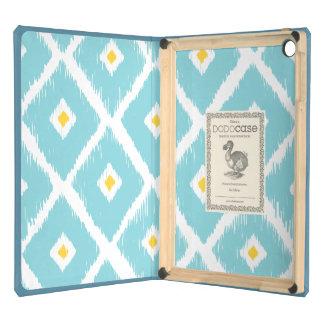 BLUE & YELLOW IKAT DIAMOND IPAD DODO CASE COVER FOR iPad AIR