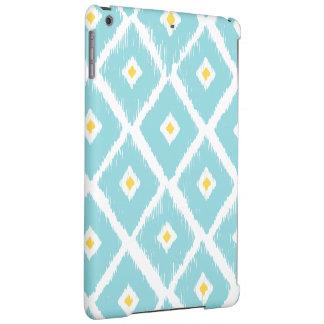 Blue & Yellow Ikat Diamond Pattern iPad Air Case
