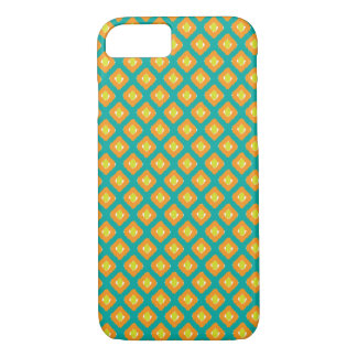 Blue, Yellow Ikat Diamond Pattern - iPhone 7 Case
