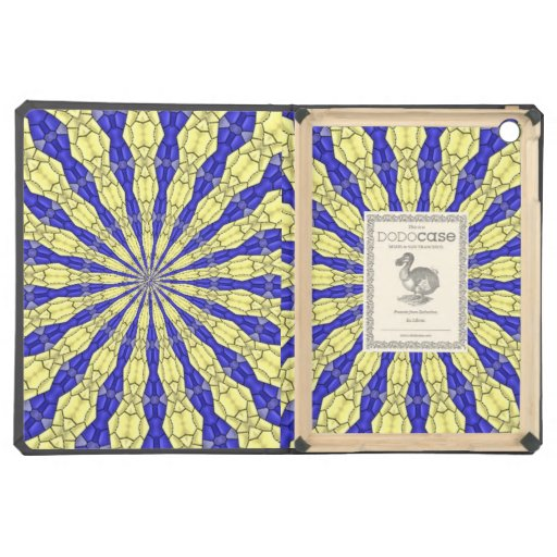 Blue & Yellow line from the middle pattern iPad Air Cases