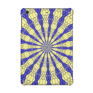 Blue & Yellow line from the middle pattern iPad Mini Cover