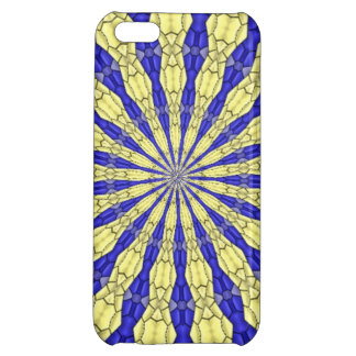 Blue & Yellow line from the middle pattern iPhone 5C Case