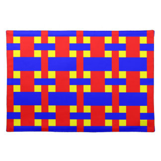 Blue, Yellow & Red Flannel Stripes Placemat
