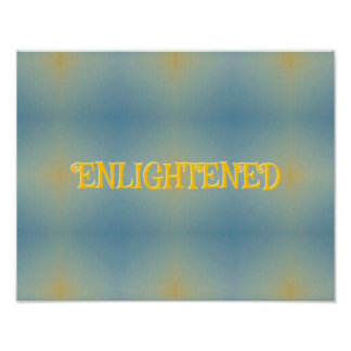 """Blue Yellow Seamless Pattern """"Enlightened"""" Poster"""