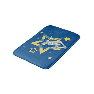 Blue & Yellow Star Skater Bath Mat