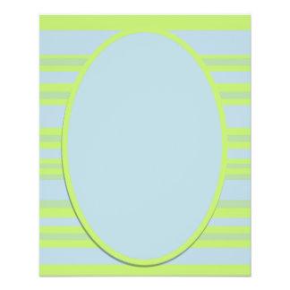 blue yellow stripes 11.5 cm x 14 cm flyer