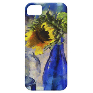 Blue & Yellow Sunflower iPhone 5 Case