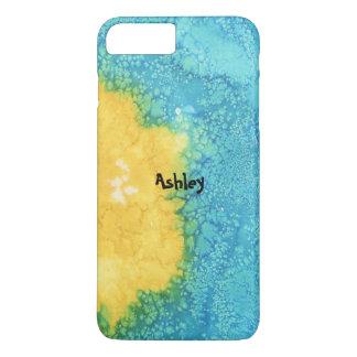 Blue/Yellow Watercolor iPhone 8 Plus/7 Plus Case