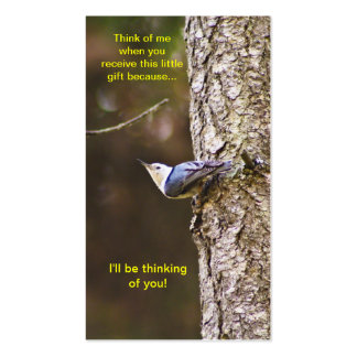 Blue & Yellow Woodpecker Bookmark Pack Of Standard Business Cards