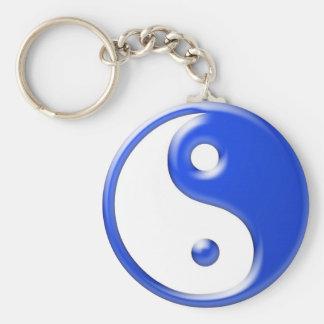 Blue Yin Yang Key Ring