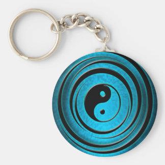 Blue Ying Yang Key Ring