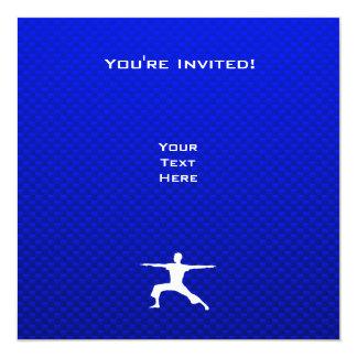 Blue Yoga 13 Cm X 13 Cm Square Invitation Card